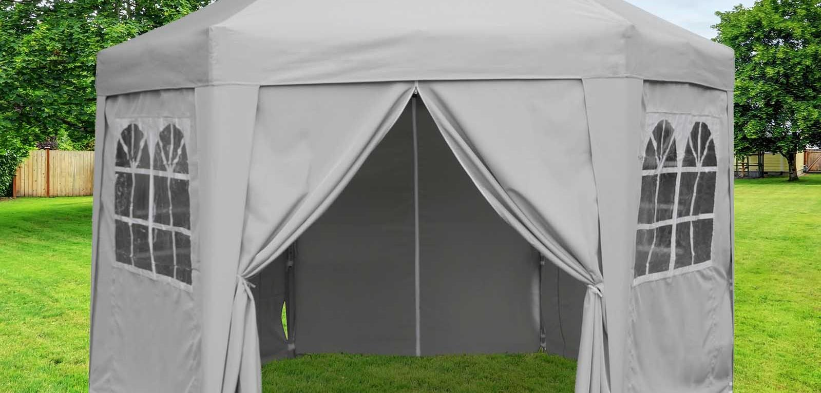 Hexagonal pop up gazebo
