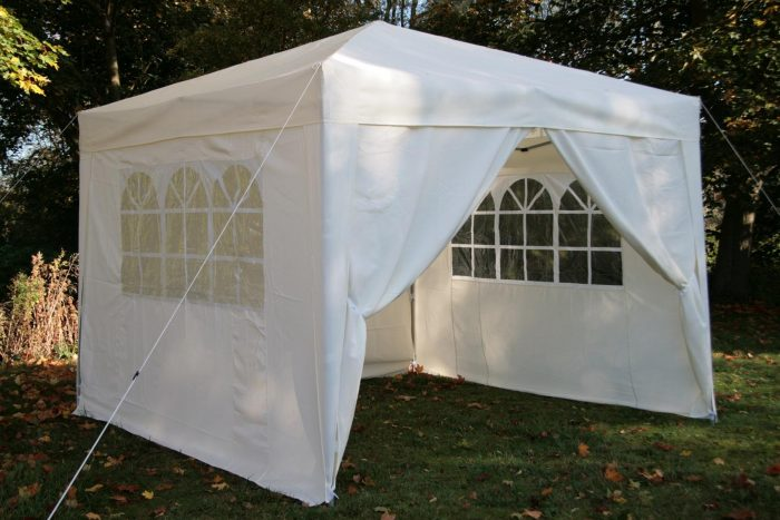 White pop up gazebo